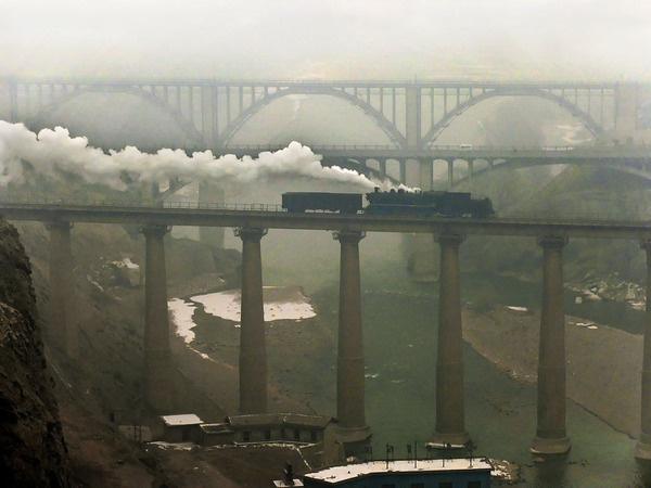 The three bridges #train #bridge #china