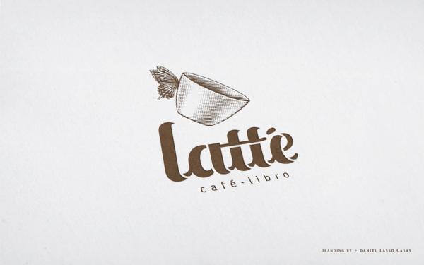 Latté Coffee on Behance #logotype #butterfly #cafe #coffee #logo #cup