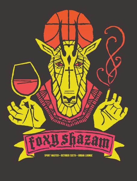 GigPosters.com Foxy Shazam #gig #poster #foxy