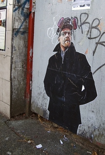 booosh #walter #white #breaking #pop #graffiti #art #street #bad