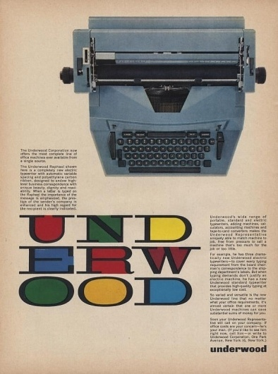 All sizes | Underwood Ad | Flickr - Photo Sharing! #advert #retro #vintage