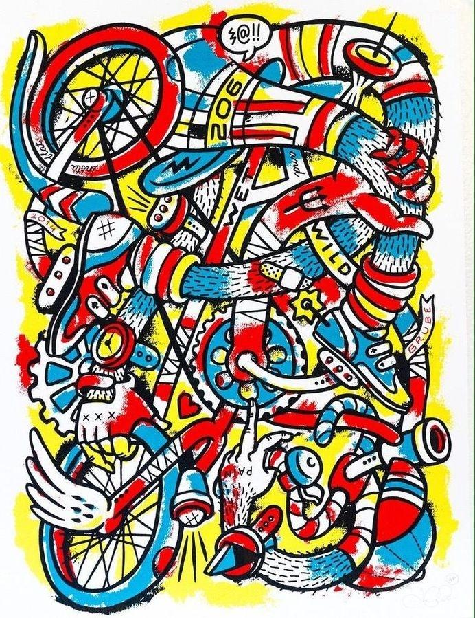 Jason Grube's poster for ARTCRANK Seattle #illustration