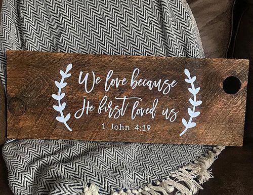 wedding bible verses wood design style