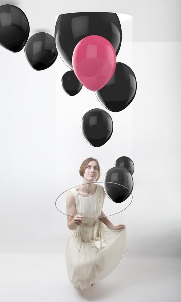 Black Balloon 1824 on the Behance Network #balloon #light #white #black