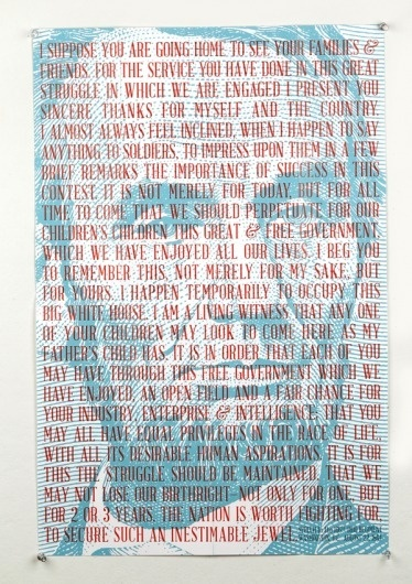 Font Design: Abraham Lincoln   Frances MacLeod #lincoln #serif #poster #typography