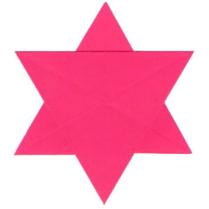 How to make a traditional six-pointed origami paper star (http://www.origami-make.org/howto-origami-star.php)