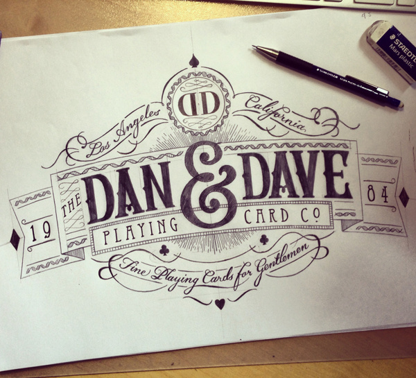 Dan and Dave logo crest #logo #design #typography