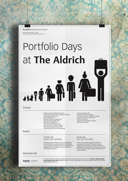 2013 Portfolio Days Poster for The Aldrich Contemporary Art Museum #aldrich #museum #event #portfolioday #portfolio #contemporary #poster #art