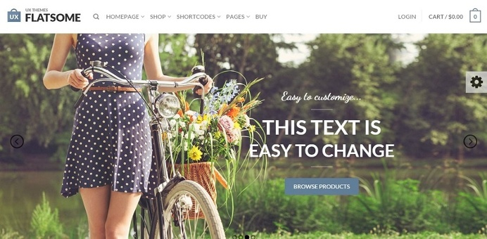 Flatsome Flat theme that can make your site so handsome.