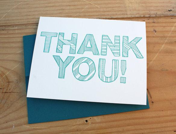 blue thank you bklyn #pattern #you #card #letterpress #thank #typography