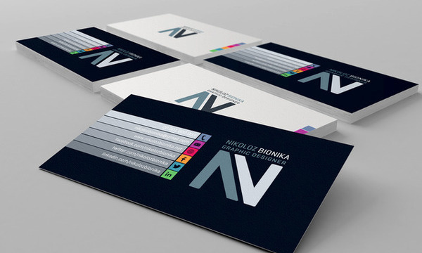 Stylish Business Card #inspiration #business #card #color #style