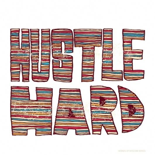 Vaughn Fender | Art Sponge #fender #hustle #illustration #vaughn #hard #typography