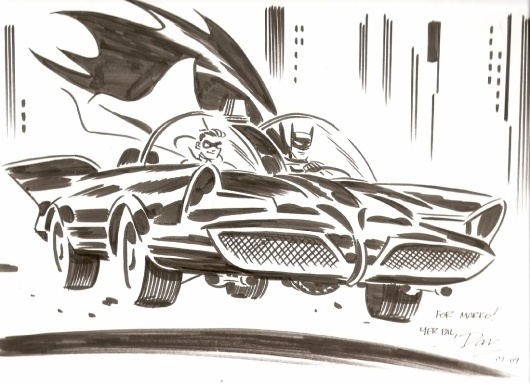 Batman and Robin by Darwyn Cooke, in MarkSchweikert's Darwyn Cooke Comic Art Gallery Room #illustrat #cape #robin #batman #1960s #illustration #comics #car #batmobile