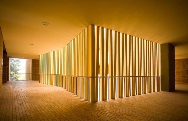Omega Block / Daniel Bonilla Arquitectos #interiors #railings #architecture #light #facades