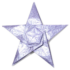 How to make a CB five-pointed seashell origami star (http://www.origami-make.org/howto-origami-star.php)