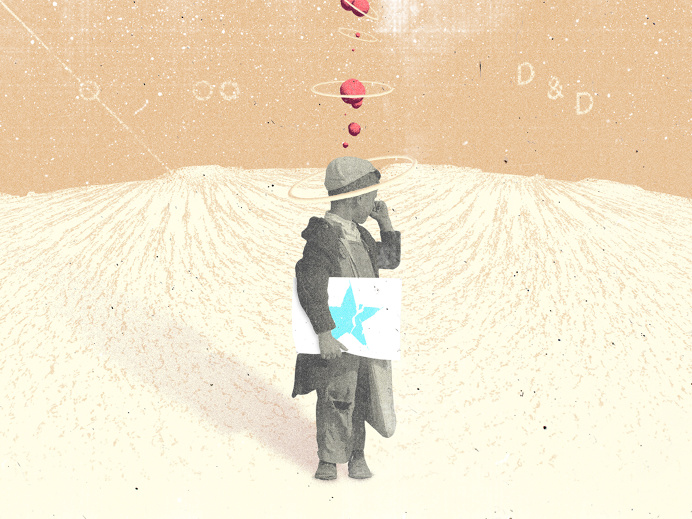Divisions & Decisions #illustration #political #space #asteroid