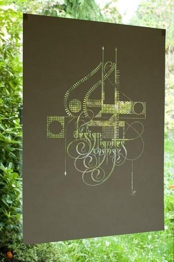 design ignites change: V1 | Marian Bantjes #bantjes #design #graphic #laser #marian #illustration #poster #typography