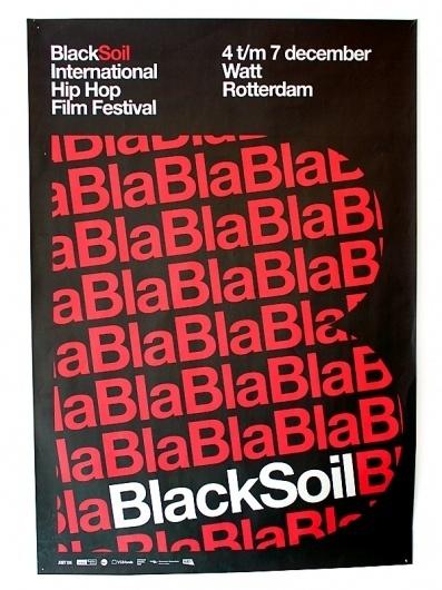 almost Modern : Black Soil #typography #helvetica #modern #poster
