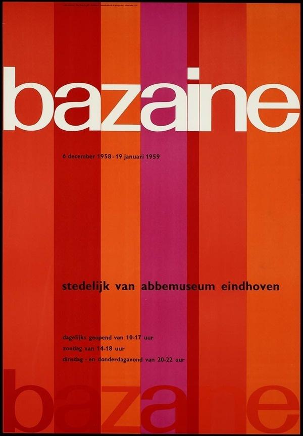 Bazaine Van Abbemuseum in Eindhoven, designer / art director: Crouwel, Wim, designer / art director: Kho Liang Ie #poster