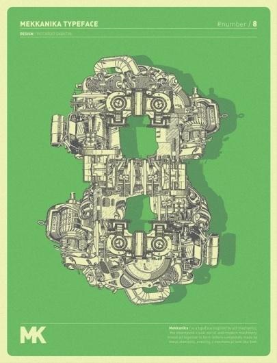 WANKEN - The Blog of Shelby White» Mekkanika Experimental Typeface #design #graphic