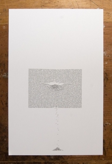 Erosion and Typography 1 11 X 17 inch by jasonpermenter on Etsy #typography