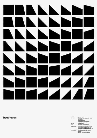 100 days, a daily variation of Josef Müller-Brockmann poster | Cosas Visuales #poster