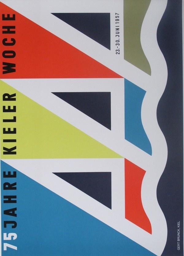 Kieler Woche poster produced for the Kiel Festival 1957 #poster