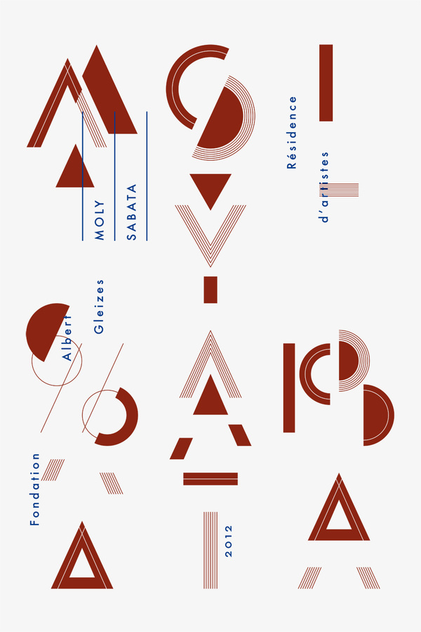Moly Sabata 2012 Poster #print #illustration #poster #artist #residence #typography