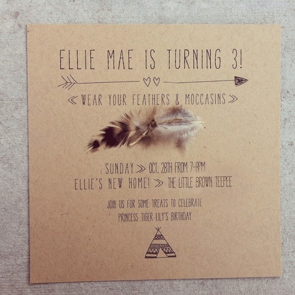NYC baby! | A SWEET SPIRIT #indian #feather #invitation