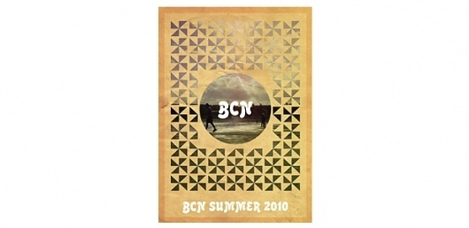 Bcn summer   Anthony Mapp #print #design #summer #barcelona #poster