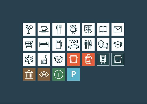 Daugavpils Wayfinding Norrskog Visual Communications Agency #pictogram #iconography #icon #sign #picto #symbol