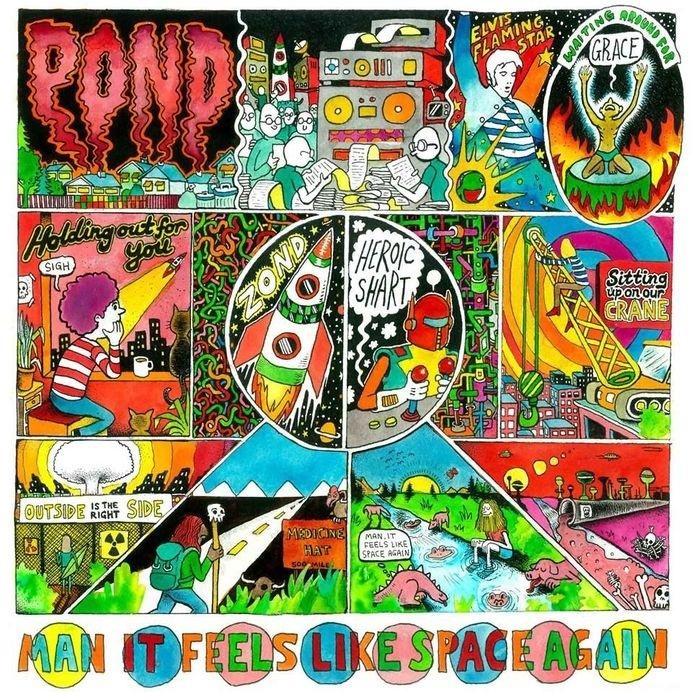 Pond - Man It Feels Like Space Again, Ben Montero, Bjenny Montero #artwork #cover #album