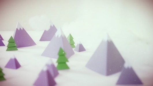 Hot 2012 on the Behance Network #cut #snow #out #paper #mountains #trees #winter