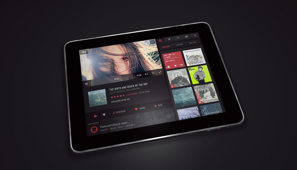 S V L A : Michael Sevilla : Direction and Design : Relevant Television #ipad #layout #webdesign
