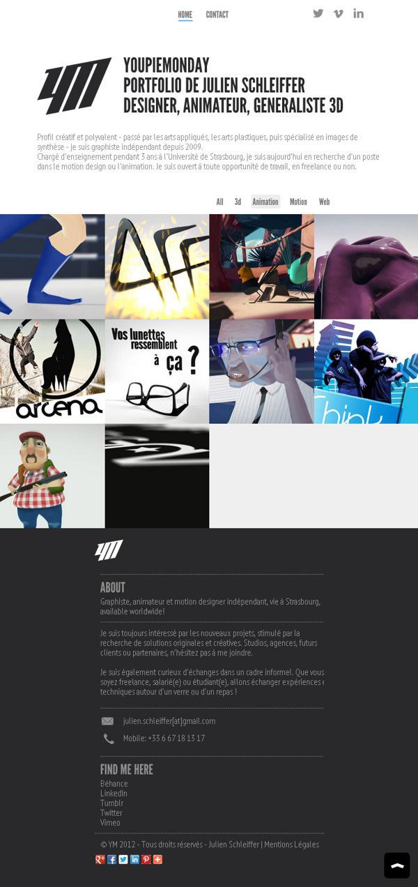 YoupieMonday UI on Behance #flat #gallery #portfolio #design #interface #ui #website #webdesign #wordpress #web