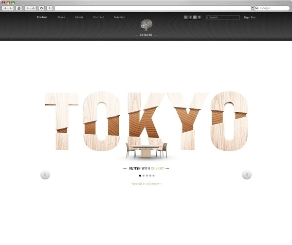 Intacto on the Behance Network #type #web #typography
