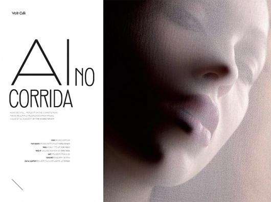 Ai No Corrida | Volt Café | by Volt Magazine #beauty #design #graphic #volt #photography #art #fashion #layout #magazine #typography