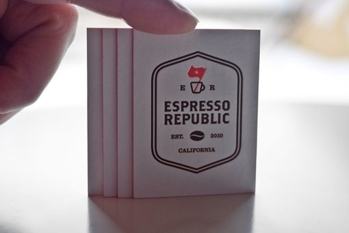 design work life » Salih Kucukaga: Espresso Republic Business Cards #logo #cards #business #typography