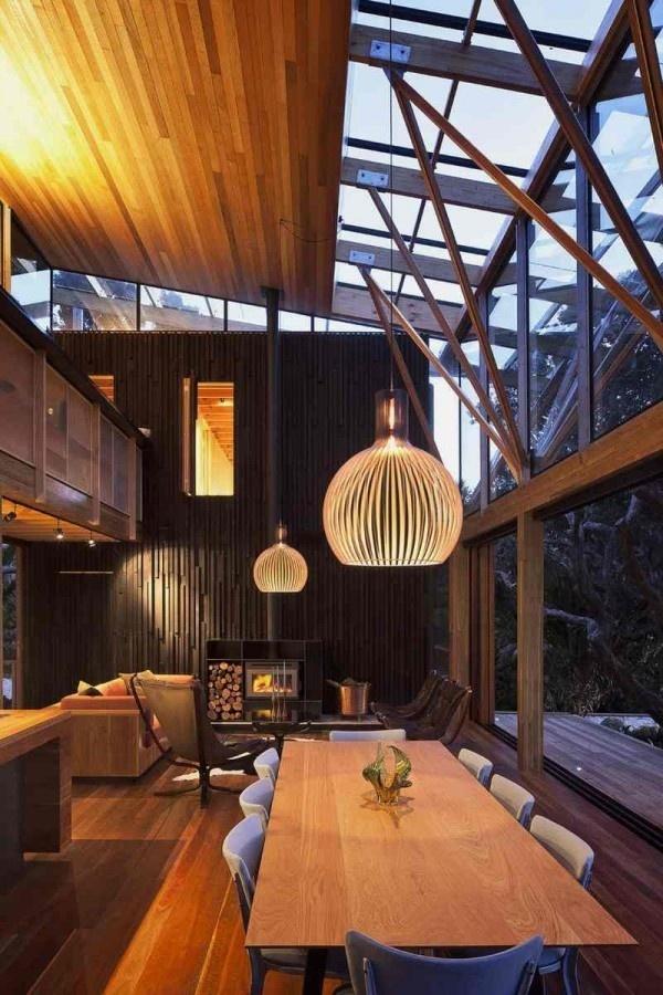 Natural House Surrounded by Pohutukawa Trees – Under Pohutukawa House #interior