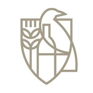 Maison Corbeau logo, Carlos Fernandez #logo #mark #identity #branding #raven #beverage logotype #animal #corn #grain #brid #minimal