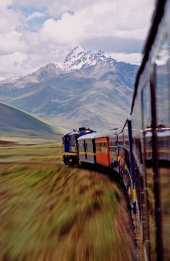 Andese Train, a photo from Puno, South | TrekEarth #train #mountain #road #speed #photography