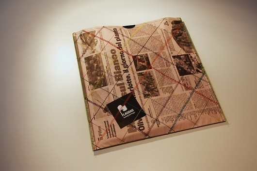 Flagbag on the Behance Network #stitching #packaging #reuse #newspaper #recycling #sew #stitch #package #flagbag