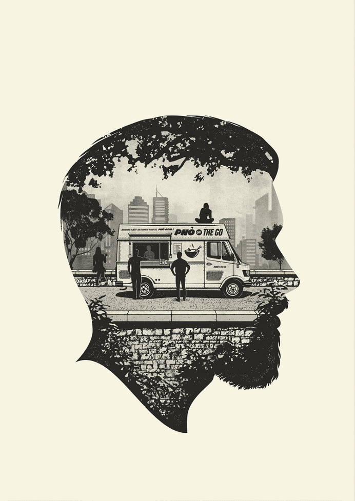 silhouette man illustration
