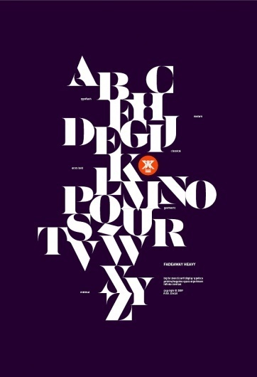 2a19ddc4632d3117221e3969b05c5b46.jpg 648×948 pixels #modern #print #design #classical #alphabet #typeface #minimal #heavy #fadeaway #typography