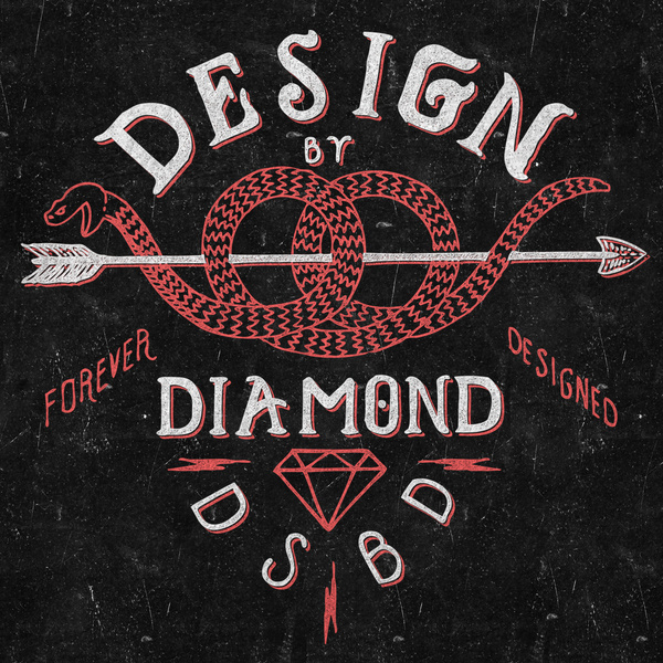 Watch_your_heals_detail #branding #snake #diamond