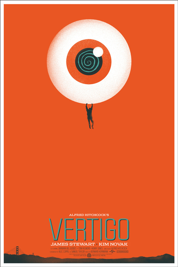 Vertigo (Eyeball) #poster #orange #mondo #vertigo
