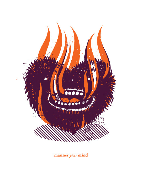 New work by Dan Christofferson. #mind #manner #dan #christofferson #illustration #your #skull