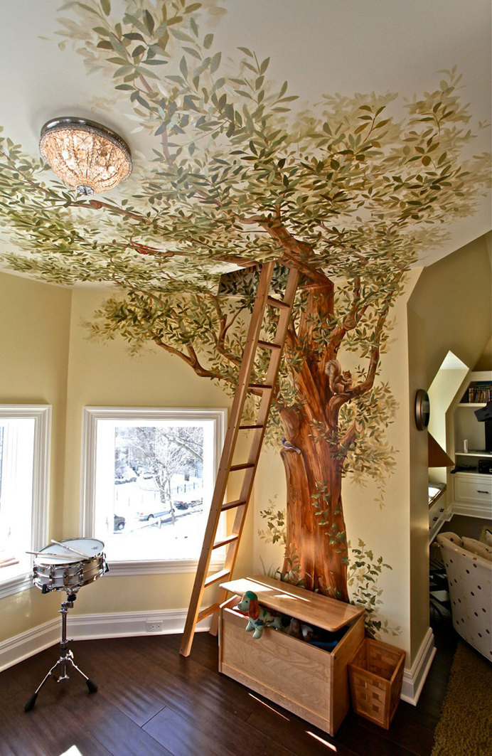 Secret Treehouse Play Room #interior #design #decor #deco #decoration