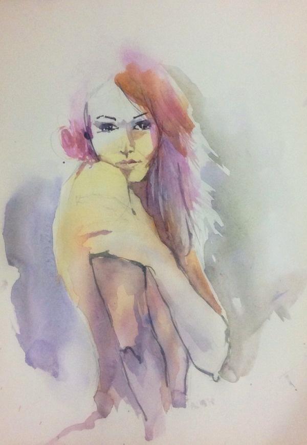 Girl 2 #eyes #art #girl #paintings