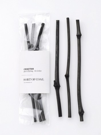 Sort of Coal - Chikutan Sticks - wannahaves - I/OBJECT #white #packaging #black #coal #and